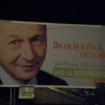 Basescu afis electoral murdar